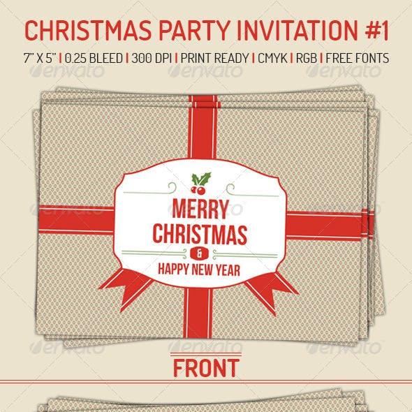 Christmas Party Invitation 1