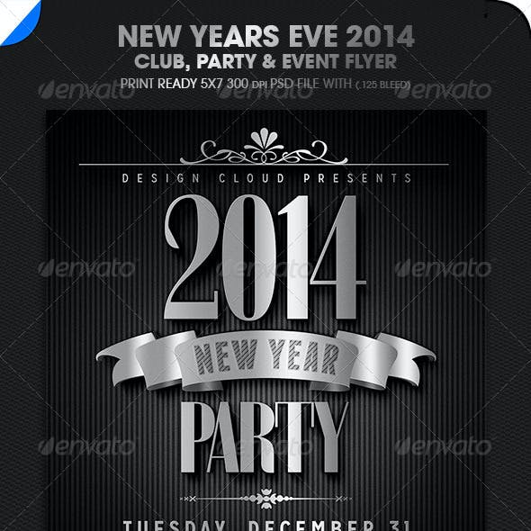 New Years Eve Club, Party and Event Flyer