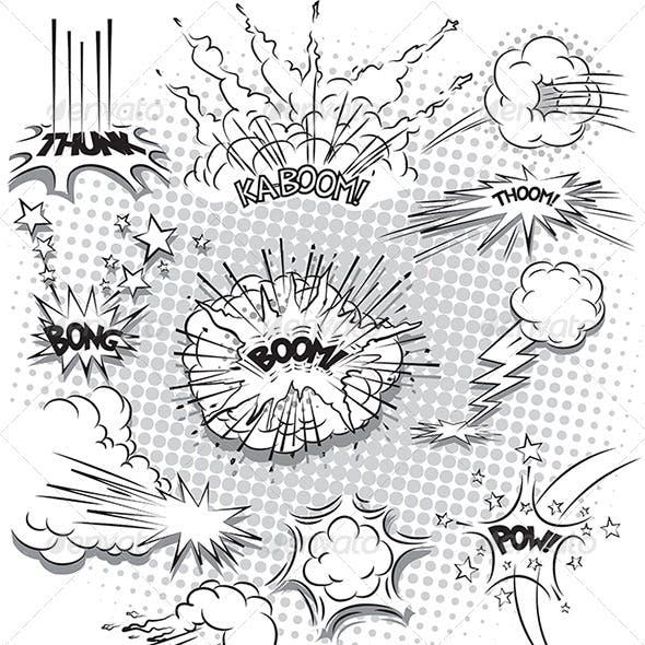 Comic Book Explosion Bubbles