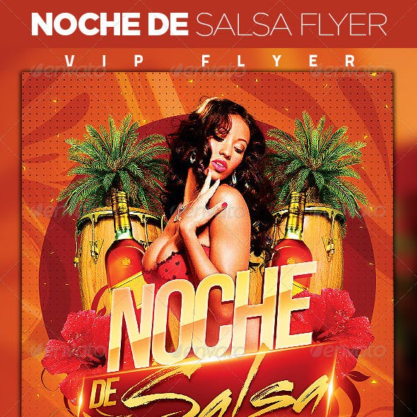 Noche de Salsa Party Flyer