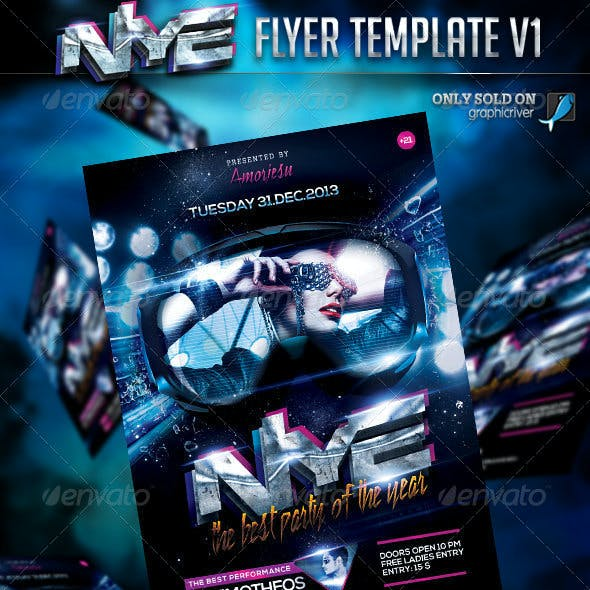 New Year Eve Flyer Template V1