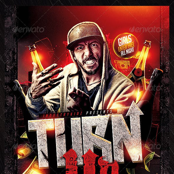 Turn Up Flyer Template