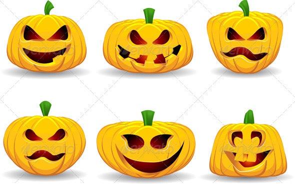 Spooky Halloween Pumpkins - Halloween Seasons/Holidays