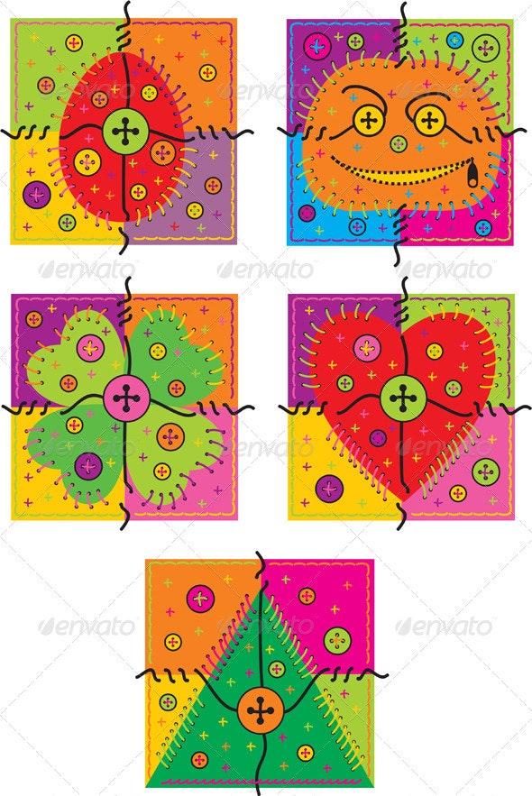 Set vector greeting cards - Seasons/Holidays Conceptual