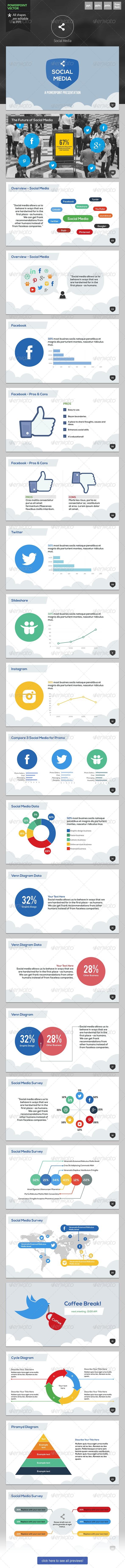 Social Media - Powerpoint Template - PowerPoint Templates Presentation Templates