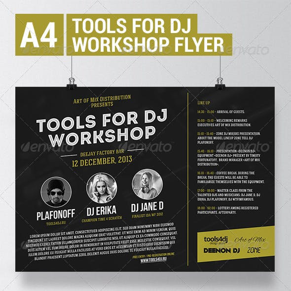 Tools4DJ Workshop Flyer with Facebook Cover
