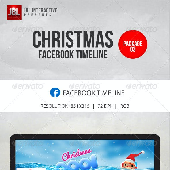 Christmas and New Year Facebook Timeline Pack 03