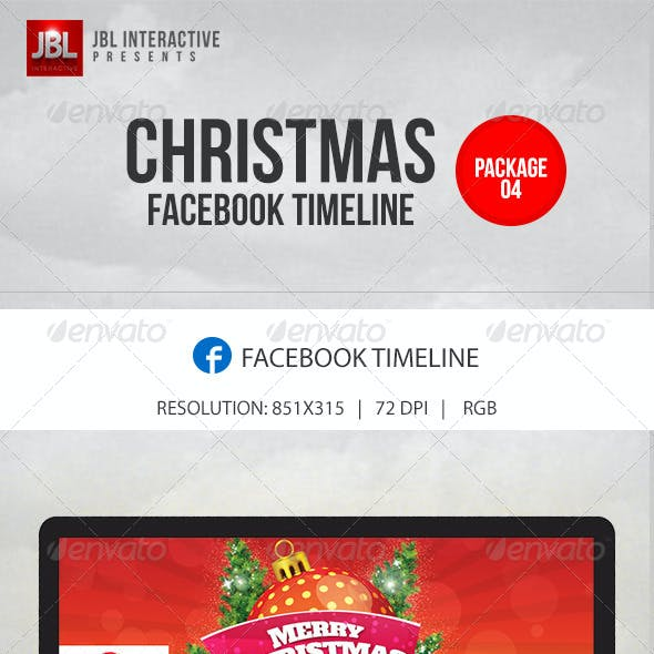 Christmas and New Year Facebook Timeline Pack 04
