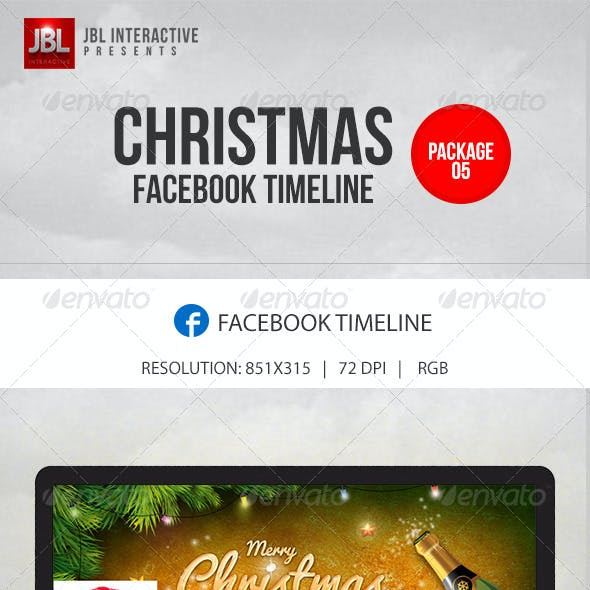 Christmas and New Year Facebook Timeline Pack 05