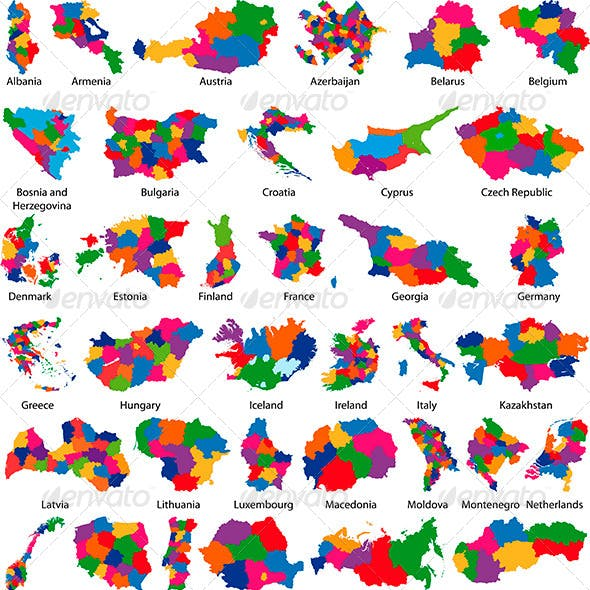 Europe Country Maps