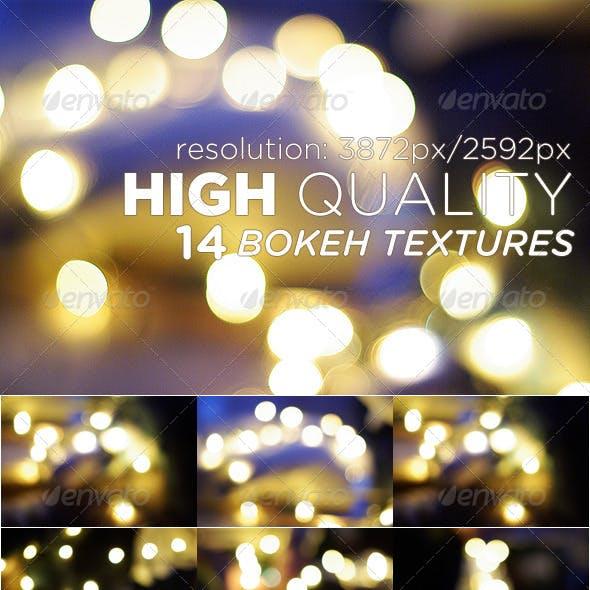 14 High Quality Bokeh Textures