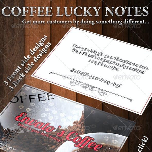 Coffee lucky notes