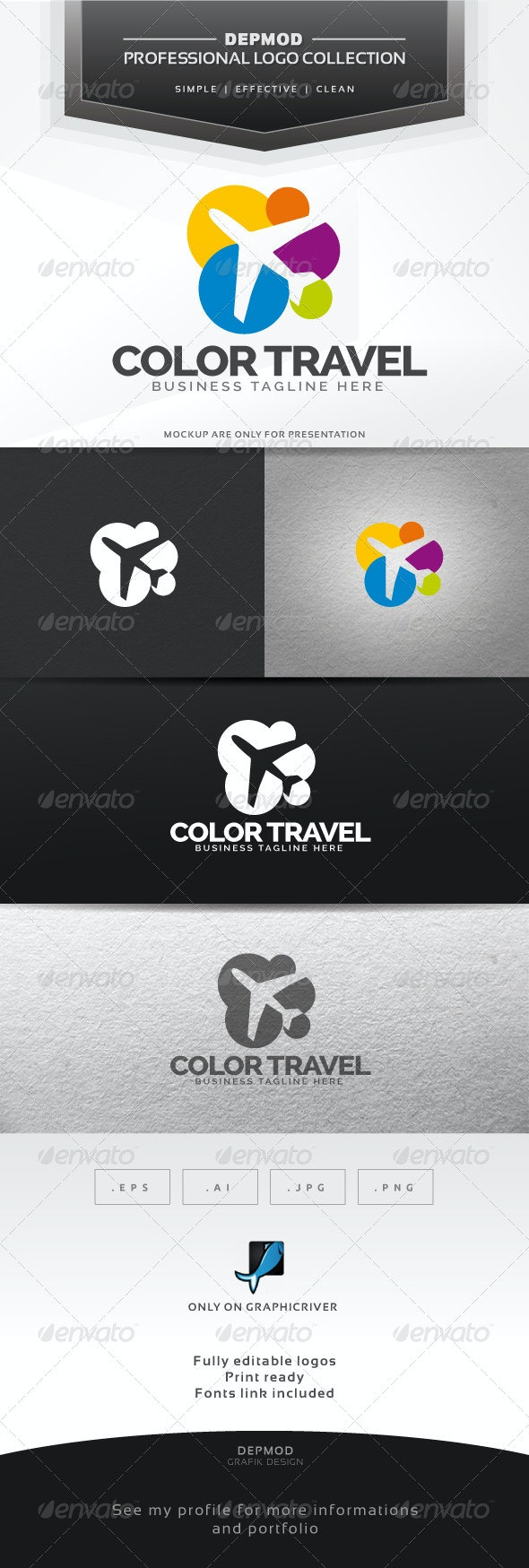 Color Travel Logo - Objects Logo Templates