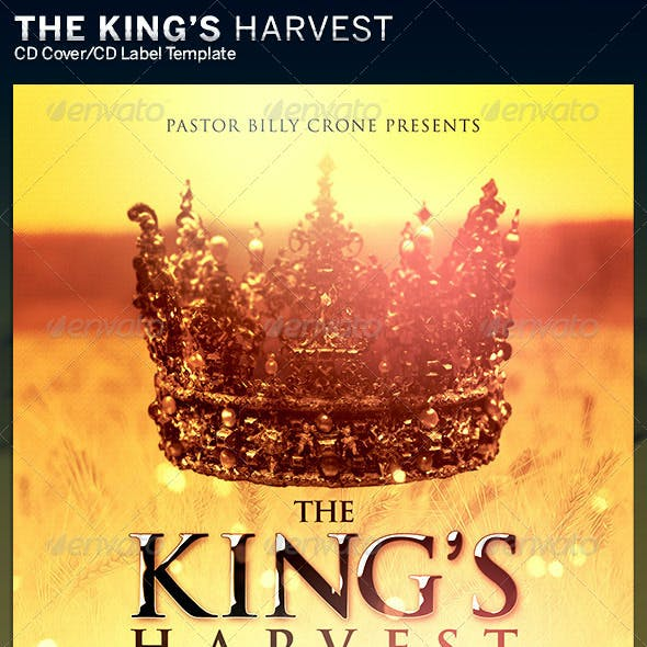 This King's Harvest: CD Cover Artwork Templa