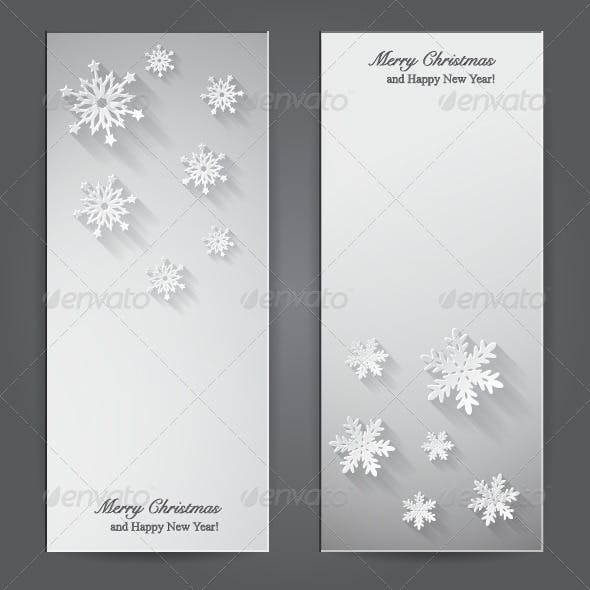 Christmas Banners with Paper Snowflakes