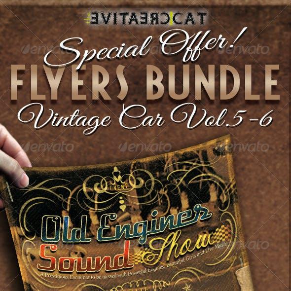 Vintage Car Flyer/Poster Bundle Vol. 5-6