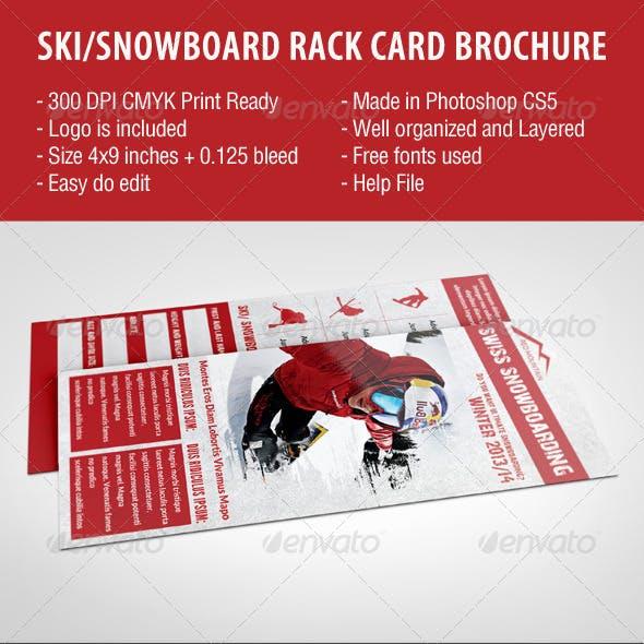 Ski/Snowboard Rack Card Brochure