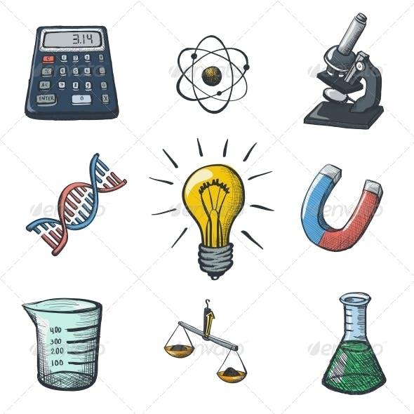 Color Science Icons Sketch