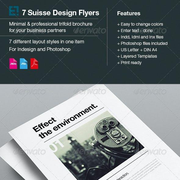 Suisse Design Advertisement / 7 Swiss Layouts