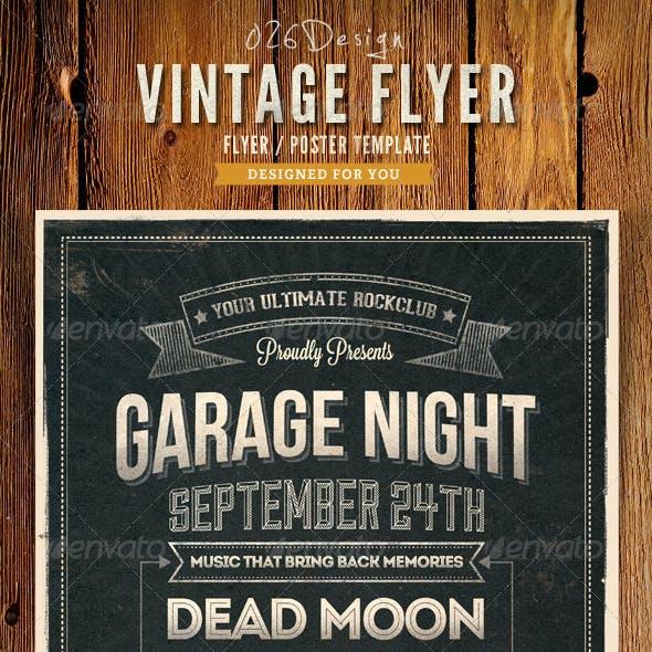 Vintage Typography Poster / Flyer IV