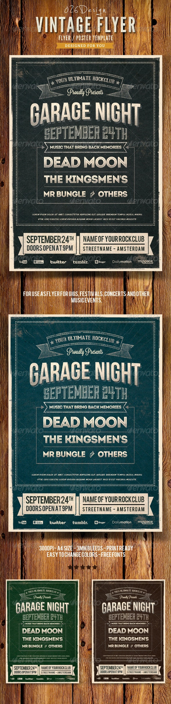 Vintage Typography Poster / Flyer IV - Events Flyers