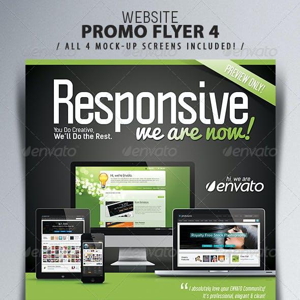 Website Responsive Flyers Template 4