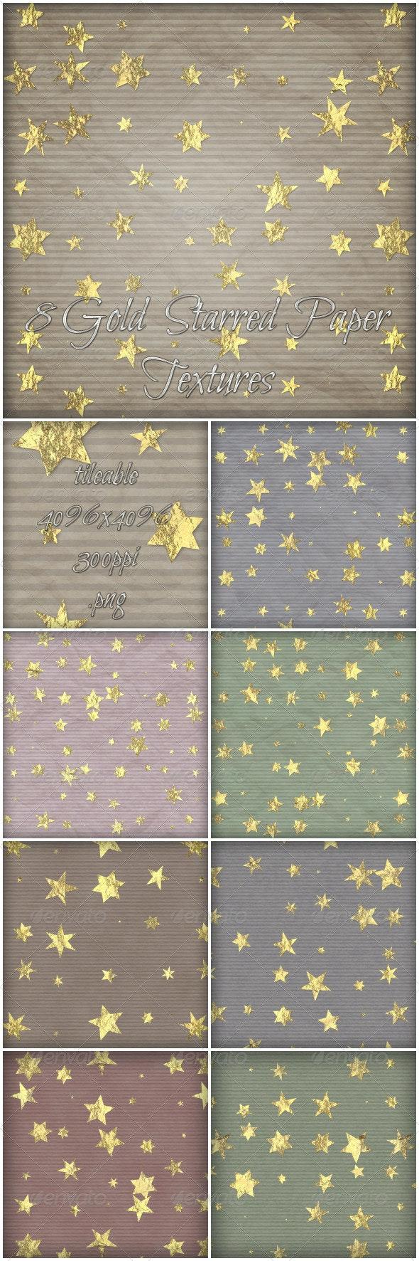 8 Gold starred Paper Textures - Paper Textures