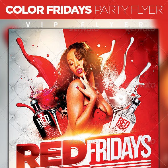 Color Fridays Party Flyer