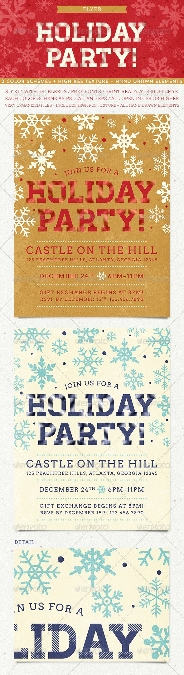 Holiday Party Flyer - Holidays Events
