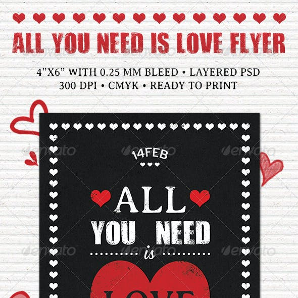 All You Need is Love Flyer
