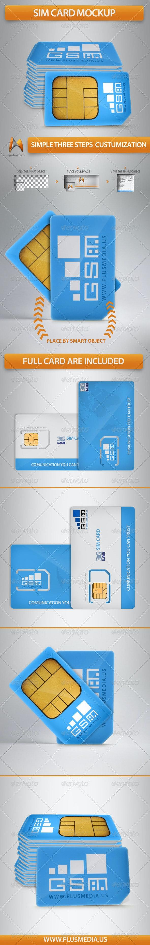 Sim Card Mockup - Miscellaneous Product Mock-Ups