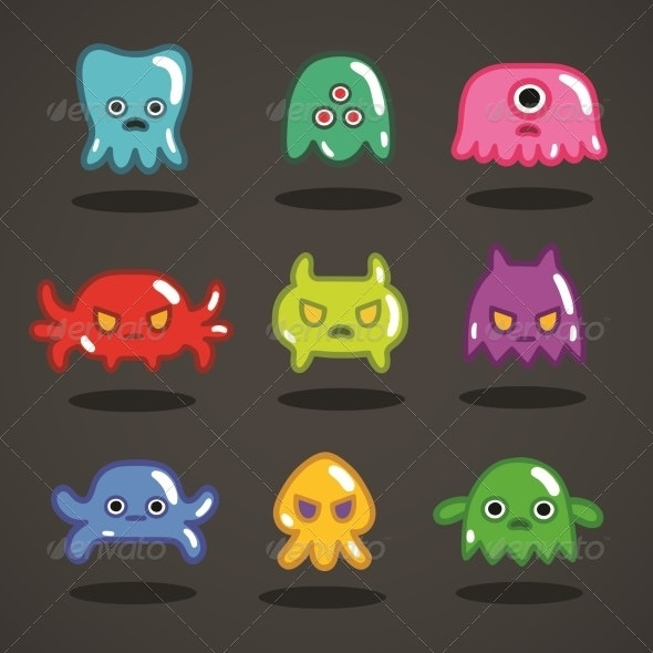 Funny Game Monsters Collection - Sprites Game Assets