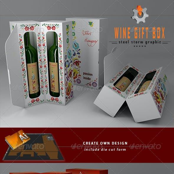 3D Wine Gift Box