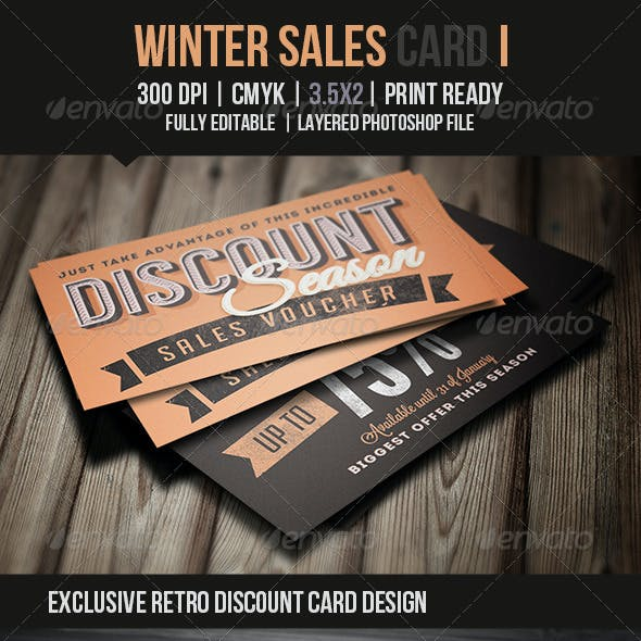Winter Sales Card I