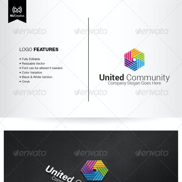 Colorful Hands and Unity Logo