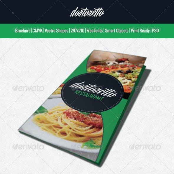 Dortoretto Brochure restaurant