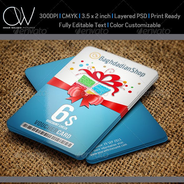 Gift Voucher Card Template Vol. 8
