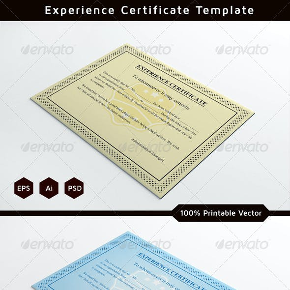 Experience Certificates