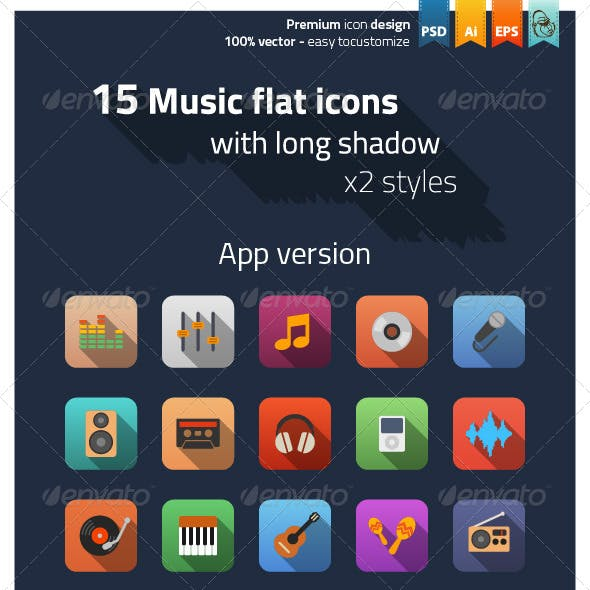 Music Flat Icons