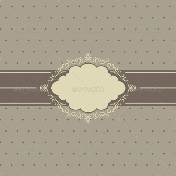 The Frame Template. Vector Illustration