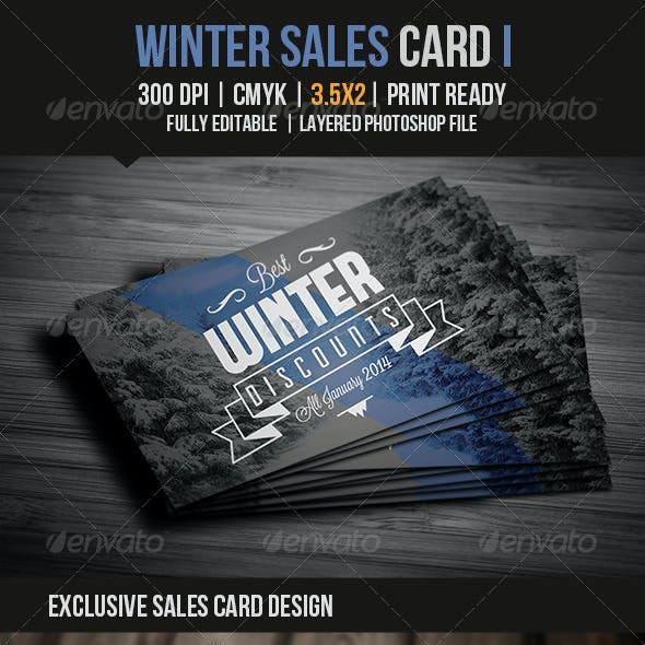Winter Sales Card II