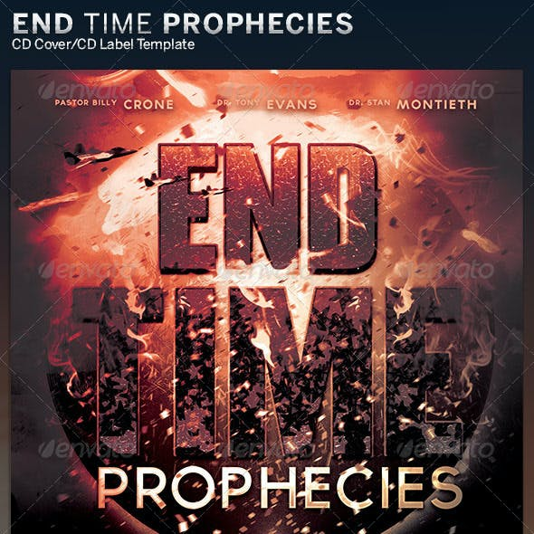 End Time Prophecies: CD Cover Artwork  Template