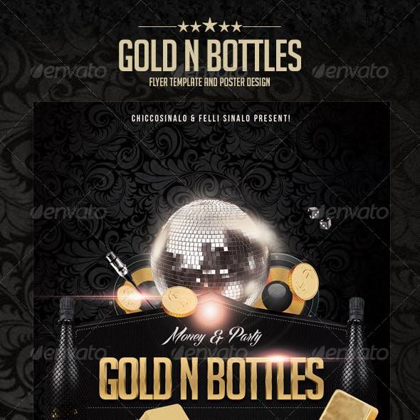 Gold n Bottles Flyer Template