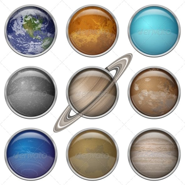 Solar System Planets, Set Buttons
