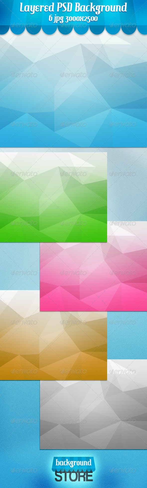 Polygons Background - Backgrounds Graphics