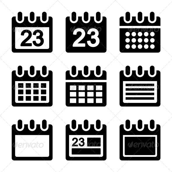Calendar Icons Set - Web Icons