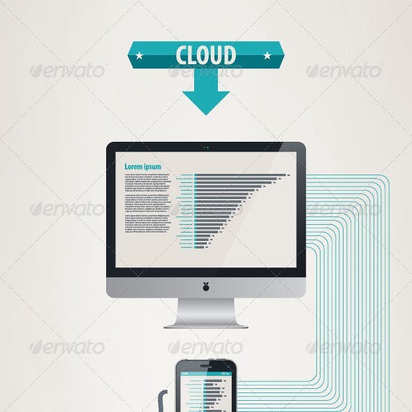 Element infographics cloud technologies