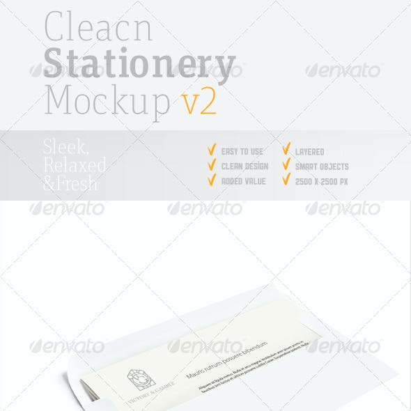 Clean Stationery PSD Mock-up v2