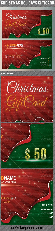Christmas Holidays Giftcard - Miscellaneous Print Templates