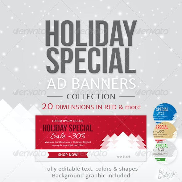 Holiday Special Web Ad Banners